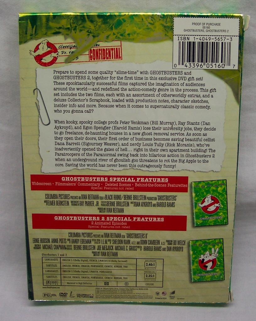 Details about Ghostbusters 1 & 2 DVD 2-Disc Set with Collectible Scrapbook