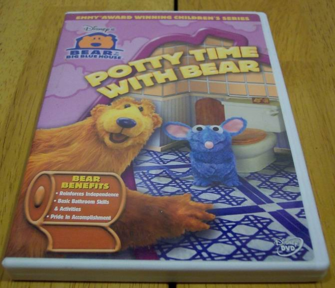 Disney Bear In The Big Blue House POTTY TIME WITH BEAR VHS