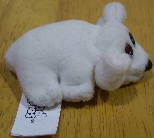 "Pound Puppies Very Tiny White Baby Puppy Dog 3"" Plush Stuffed Animal Toy"