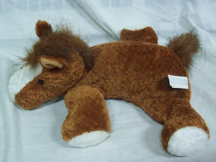 Mary Meyer Flip Flops Brown White Horse 12 Plush Stuffed Animal Toy