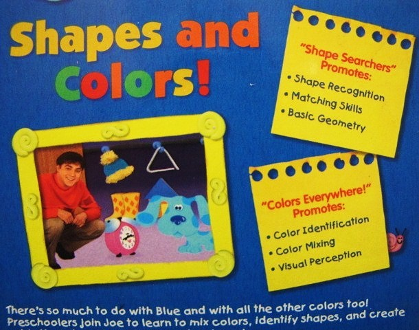 Blue 039 S Clues Shapes And Colors VHS Video