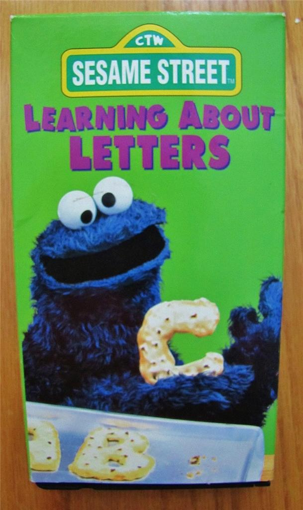 sesame street learning about letters sesame learning about letters vhs ebay 24809 | 695056887 o
