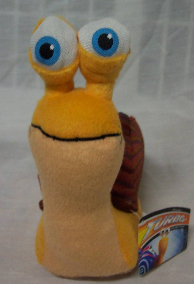 "Dreamworks TURBO THE SNAIL 7"" Plush STUFFED Toy - Ad ..."