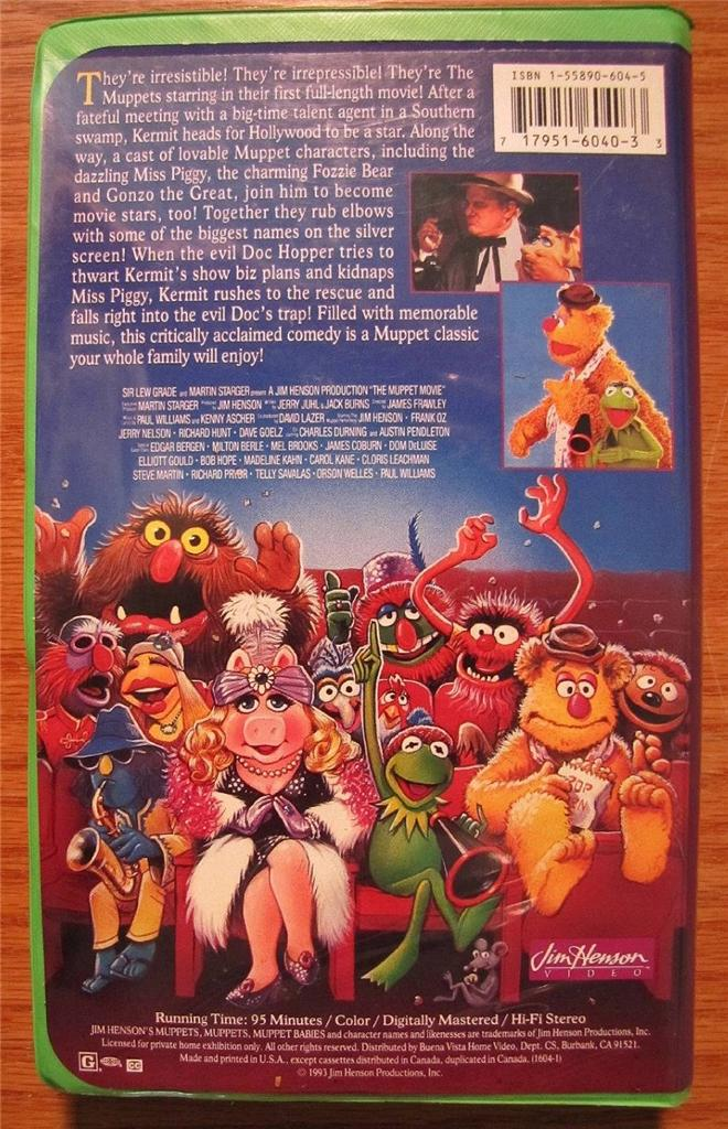 JIM Henson THE Muppet Movie VHS Video | eBayThe Muppet Movie Vhs