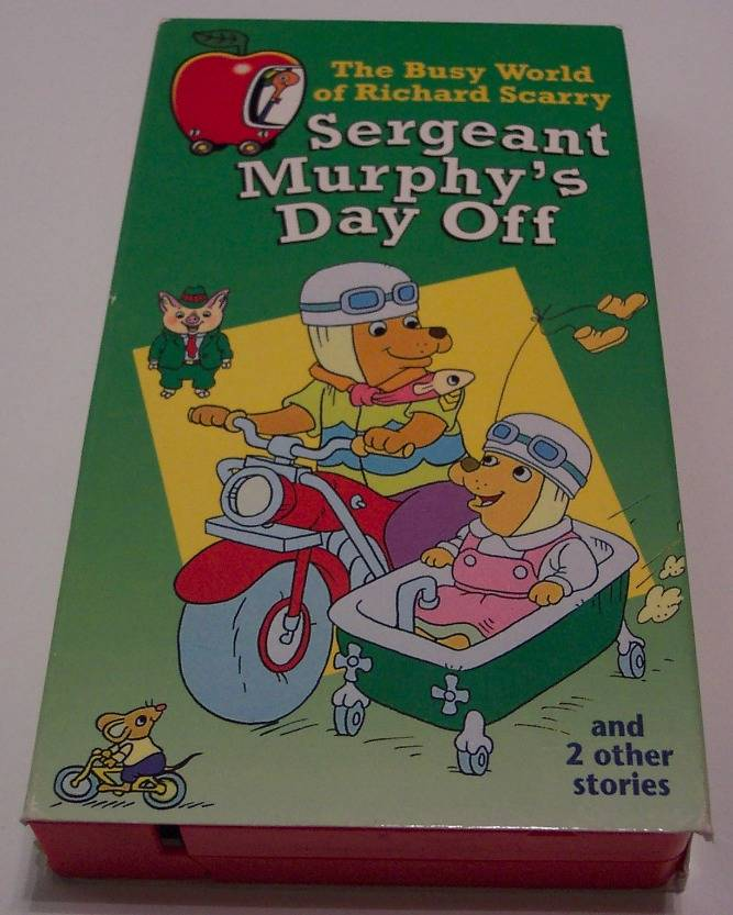 Busy World Of Richard Scarry SERGEANT MURPHY'S DAY OFF VHS