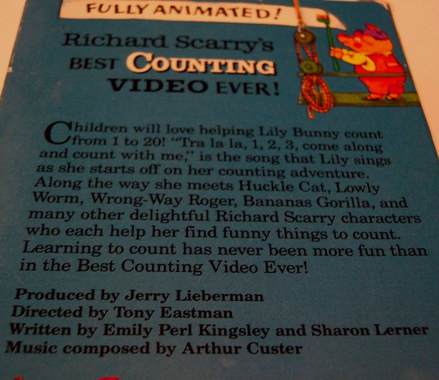 Richard Scarry's Best Counting Video Ever VHS Video