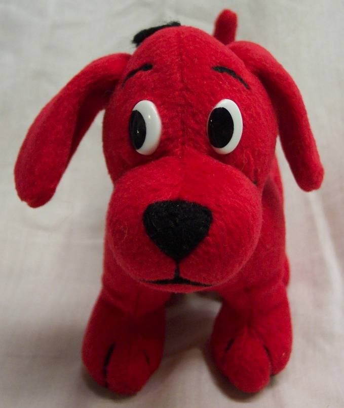 "Big Red W: CLIFFORD THE BIG RED DOG W/ HAT 6"" Plush STUFFED ANIMAL"
