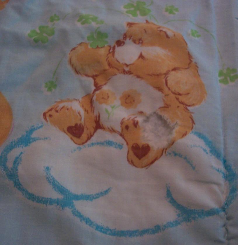 1982 VINTAGE CARE BEARS SLEEPING BAG Blanket 32 X 66 Love ...