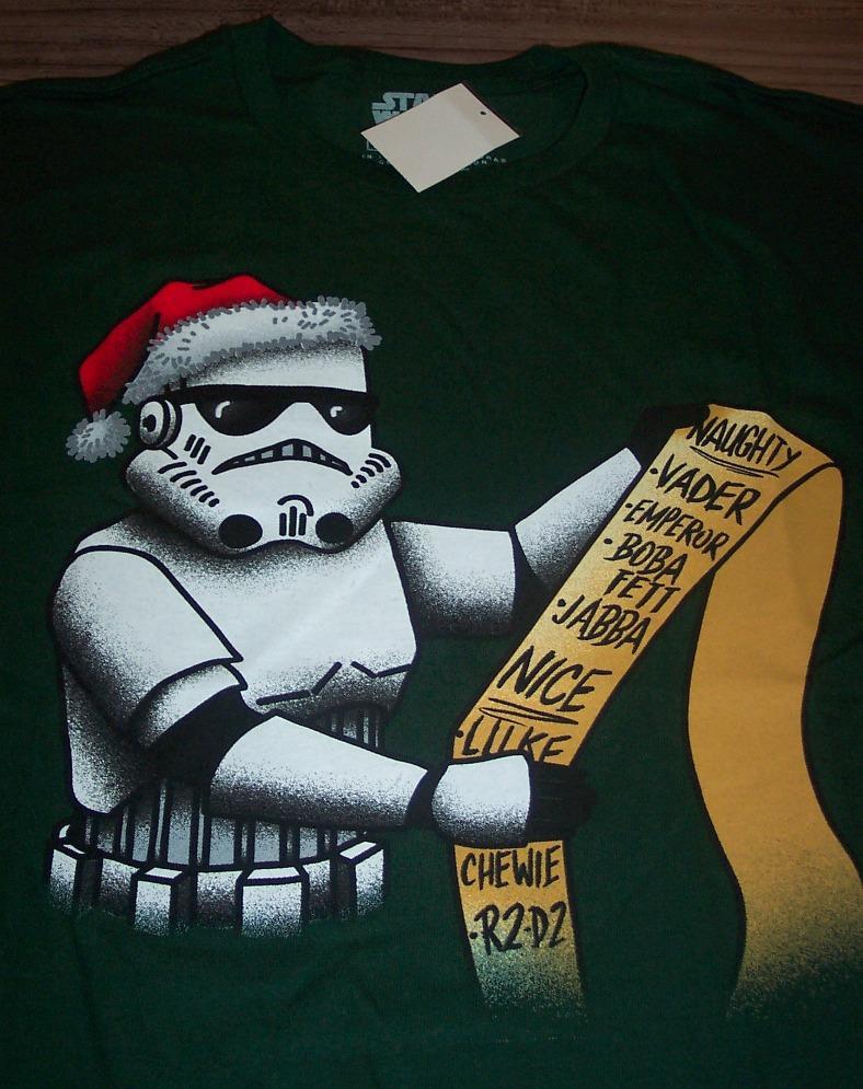 STORM TROOPER  SANTA CHRISTMAS STAR WARS  HOLIDAY ADULT T-SHIRT S-XXL