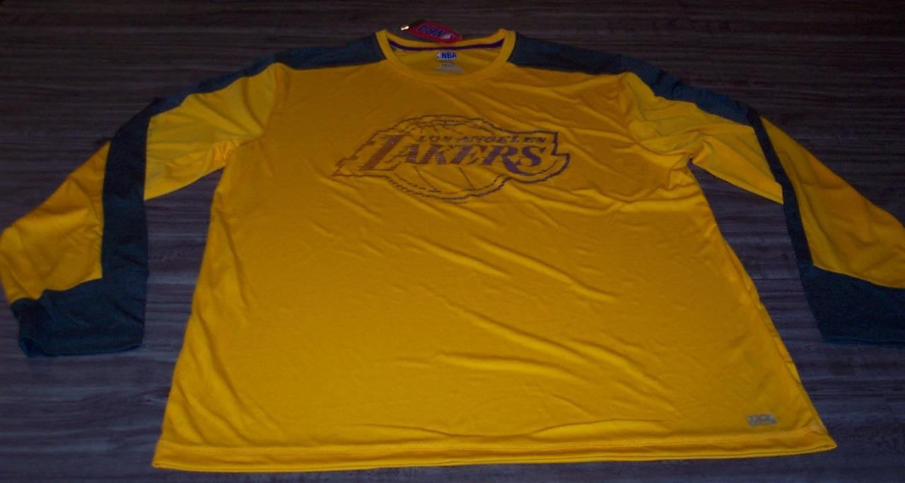 5d8464fcd8a Details about LOS ANGELES LAKERS NBA BASKETBALL LONG SLEEVE WARMUP JERSEY  Shirt XL NEW w/ TAG