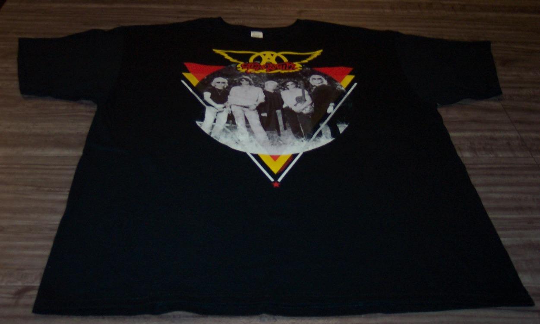 Vintage Style Aerosmith Band T Shirt 2xl Xxl New Ad