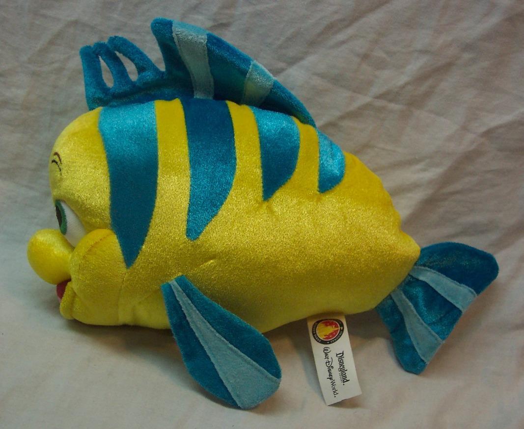 Walt disney parks little mermaid flounder fish plush ad for Little fish toys
