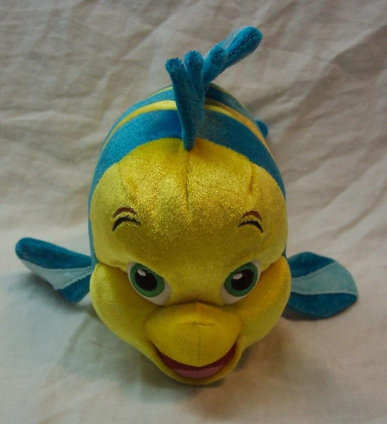 Walt disney parks little mermaid flounder fish plush ad for Fish stuffed animal