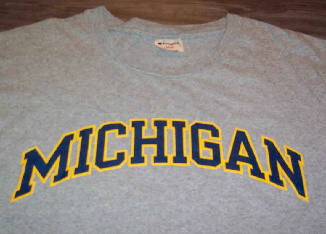 Vintage university of michigan wolverines t shirt ad for Michigan state t shirts vintage