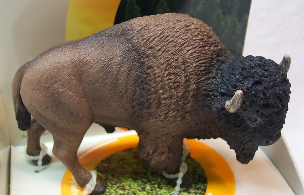 PV playvisions play visions American bison Buffalo pvc mini figure figurine