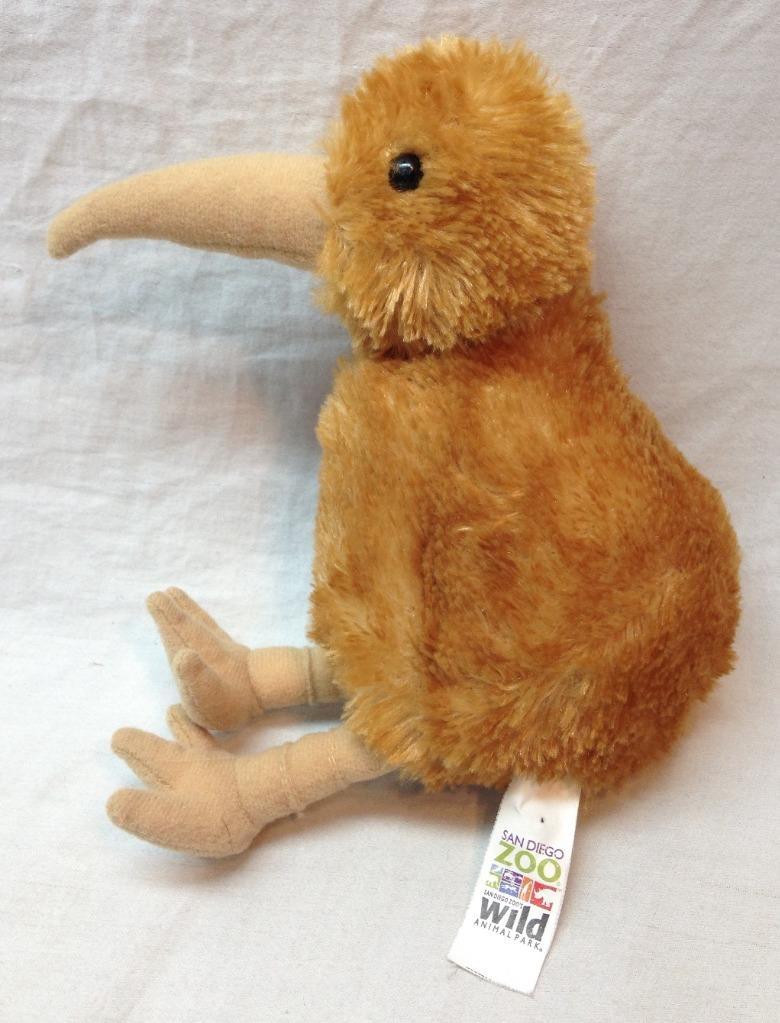 San Diego Zoo Cute Soft Kiwi Bird 6 Plush Stuffed Animal Toy Aurora