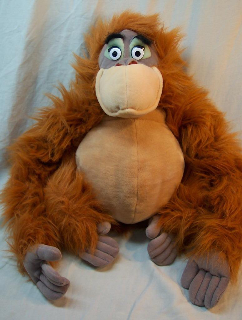 """Disney The Jungle Book APE Louie 7/"""" Peluche King NUOVO CON ETICHETTE Monkey solo giocare giocattolo Beanie"""