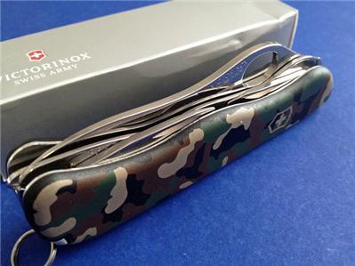 Victorinox Camouflage One Hand Trekker Swiss Army Knife