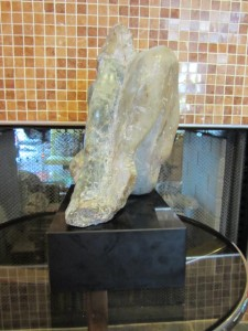 MID-CENTURY MODERN SIGNED MARBLE SCULPTURE OF NUDE WOMEN