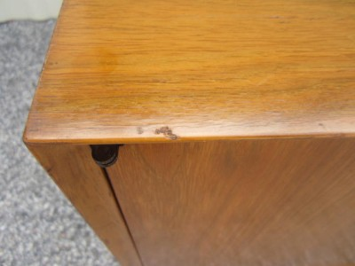 Lovely Mid Century 3 Dimensional Diamond Front Credenza