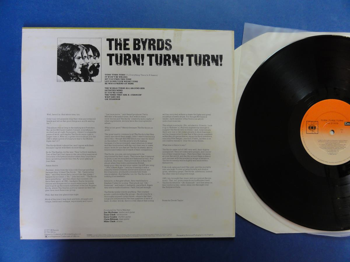 The Byrds Turn Turn Turn Embassy Uk Lp Mint
