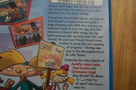 HEY ARNOLD THE MOVIE VHS VIDEO