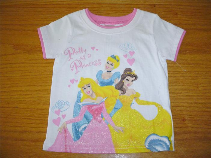 NWT Disney store Princess Ariel cinderella Belle Snow white Tee Shirt top Girl