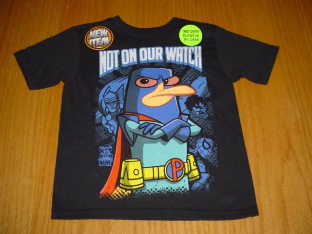 6-7 Licensed Youth Phineas /& Ferb Agent P Shirt New S 8 M