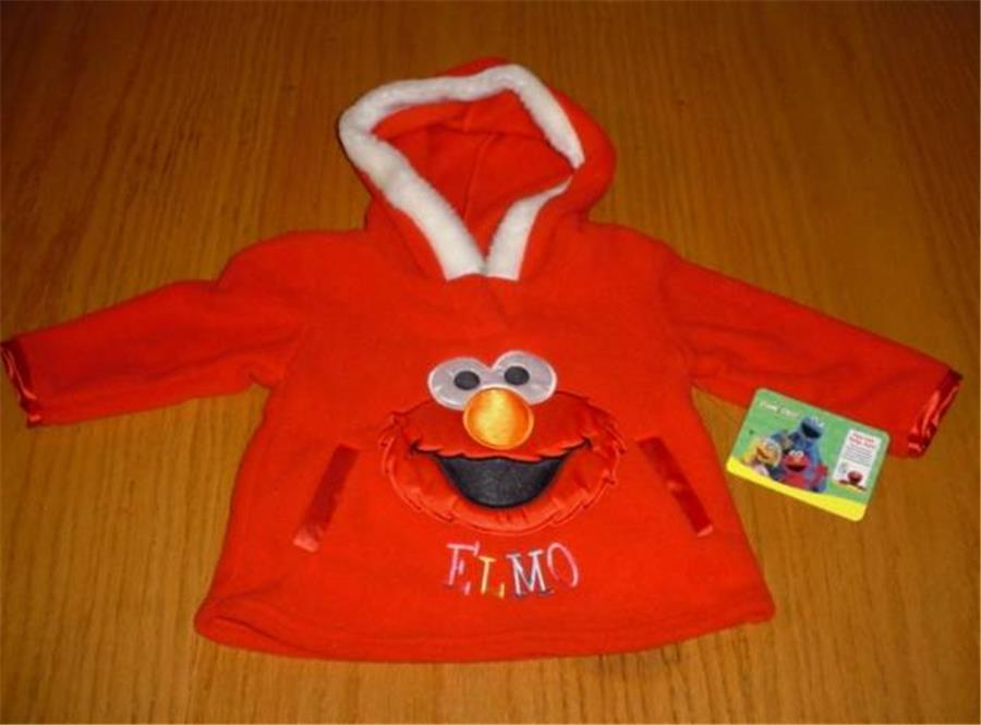 - ADORBS SIZE 12 MO Zip Up NWT GIRLS ELMO SESAME STREET HOODIE JACKET