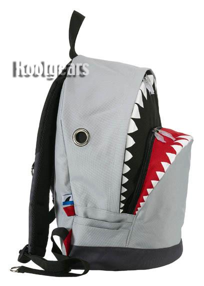 shark backpack large morn creations great white grey week