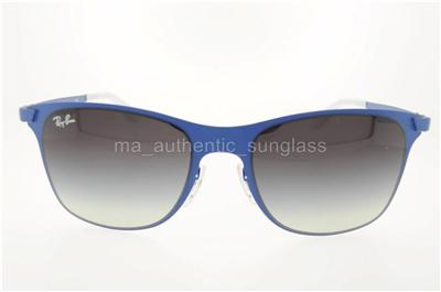 23f76a3cba RAY-BAN RB 3521 1618G 161 8G 52MM BLUE FRAME GRAY GRADIENT LENSES ...