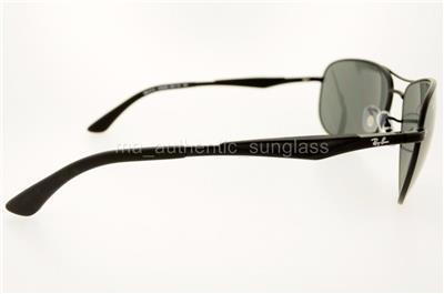 7df1d4e05c RAY-BAN RB 3519 0066G 006 6G 59MM BLACK FRAME SILVER MIRROR GRAY ...