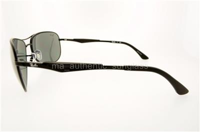 274620481b RAY-BAN RB 3519 0066G 006 6G 62MM BLACK FRAME SILVER MIRROR GRAY ...
