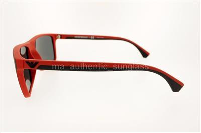 39c5df9b14e0 EMPORIO ARMANI EA 4033 532487 56MM BLACK RED RUBBER FRAME GRAY LENS ...