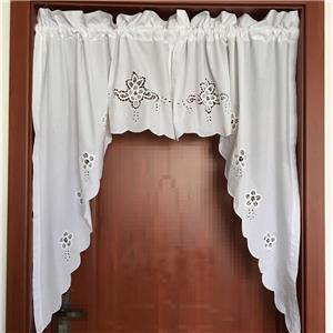 Elegant Pair Of Battenburg Lace Embroidery Cutwork White Curtain Swags Ebay
