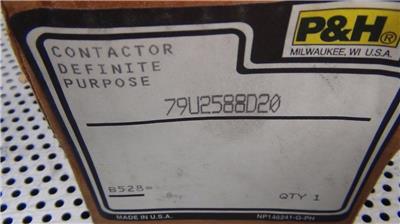 NEW in Box P/&H 79U2588D20 Definite Purpose Contactor