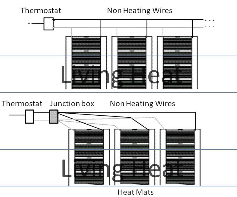 underfloor heating film kit with optional thermostat | ebay kenmore he3 dryer heating element wiring diagram underfloor heating contactor wiring diagram