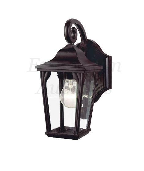 Bronze Lantern Light Wall Lamp Outdoor Porch Garage