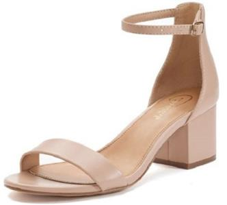 7115dbb861b Buckle ankle strap closure  Manmade upper and lining  TPR outsole  Open  toe  Padded footbed  2.5-in. heel