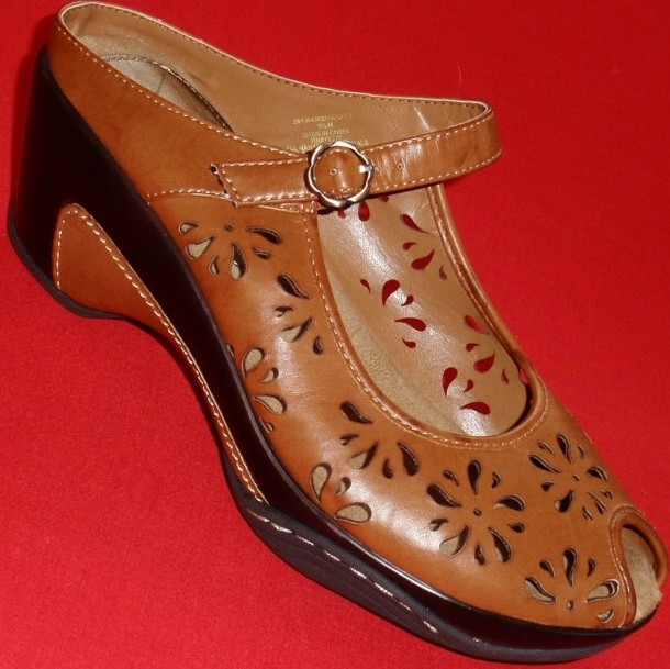 New Women S Rialto Variety Brown Leather Peep Sandals