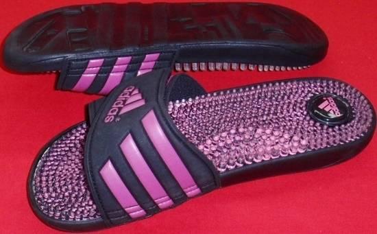 New Womens Adidas Adissage Black Purple Massaging Slides