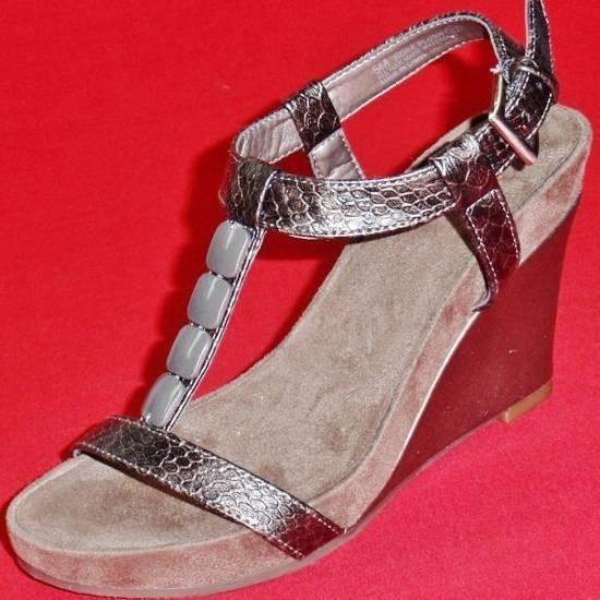NEW Women's PEWTER AEROSOLES A2 ROSE PLUSH Wedge Heels