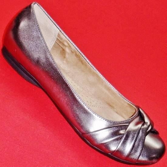 New Womens Sonoma Farrah Pewter Slip On Flats Fashion