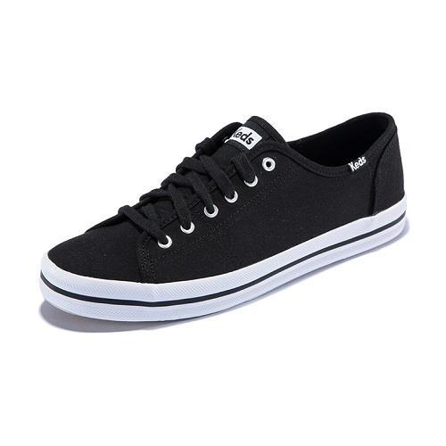 Women s KEDS KICKSTART Black Canvas Comfort Casual Sneakers Shoes ... 0387a6b2a