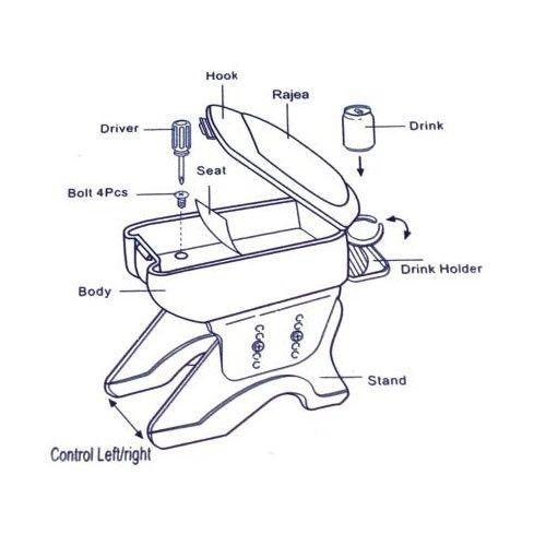 black armrest center console fits fiat albea bravo doblo