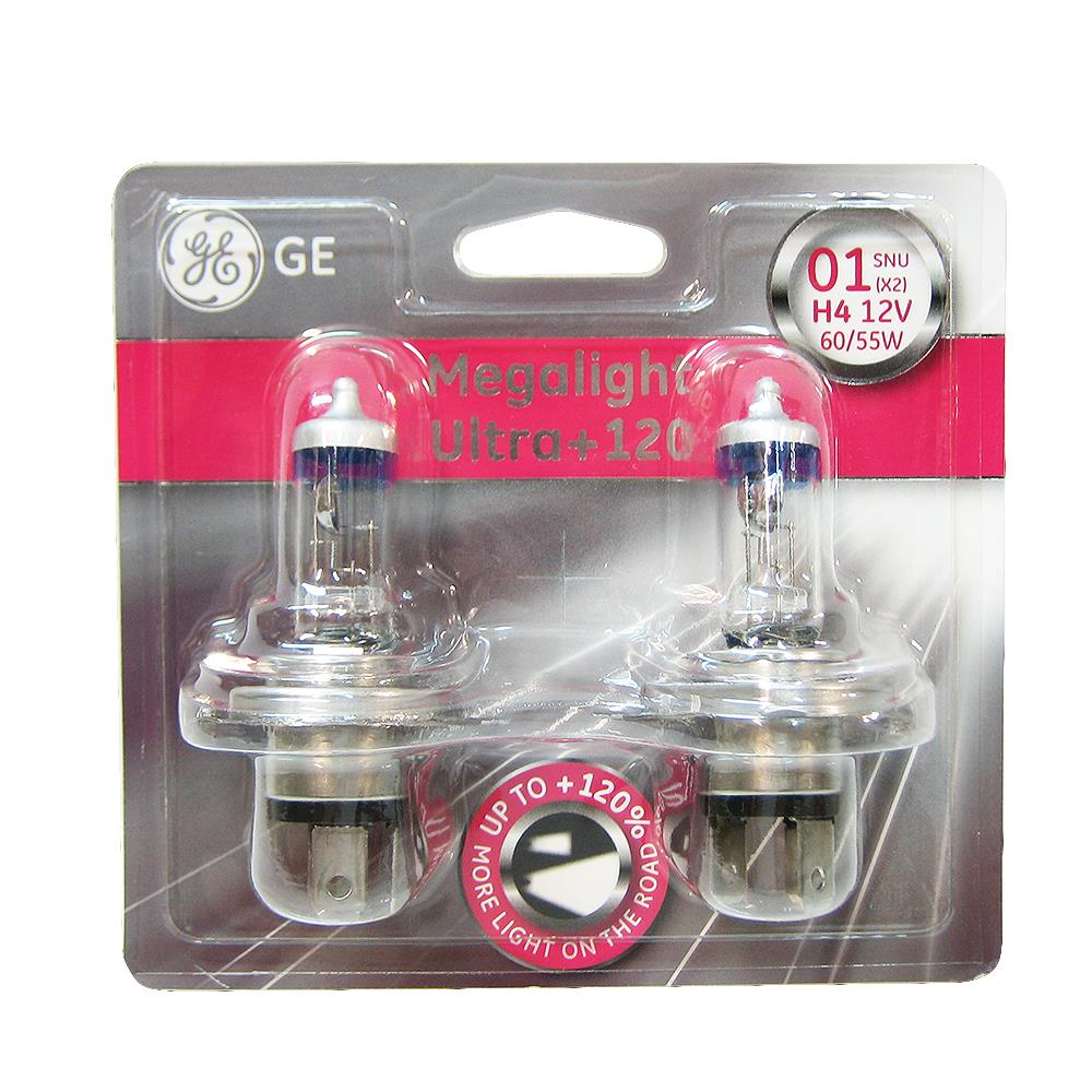 fenster xenonfüllung 2 x h4 halogen light bulbs ultra plus 120 megalight xenon
