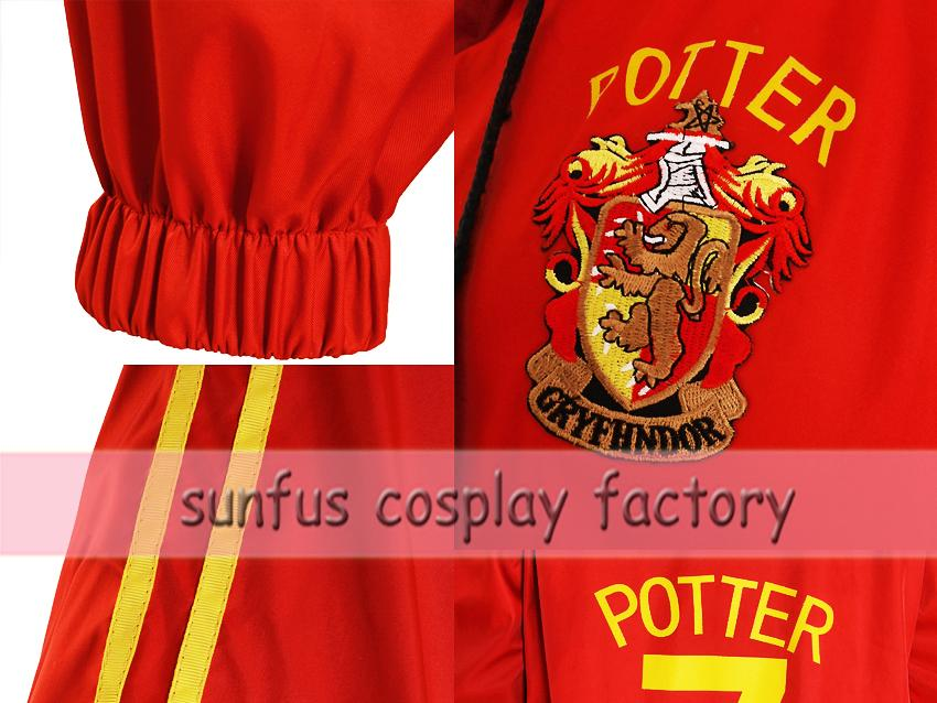 harry potter costume quidditch robe gryffindor cosplay
