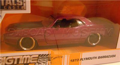 Details about 1973 '73 PLYMOUTH BARRACUDA PURPLE 1:32 METALS DIECAST  BIGTIME MUSCLE JADA 2019