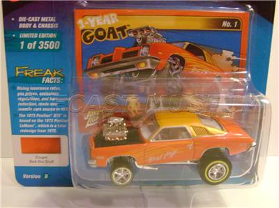 johnny lightning street freaks zingers 1973 Pontiac Gto 1 Of 3500