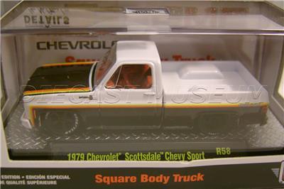 1979 /'79 CHEVY SCOTTSDALE SPORT SQUARE BODY TRUCK R58 M2 MACHINES DIECAST 2020